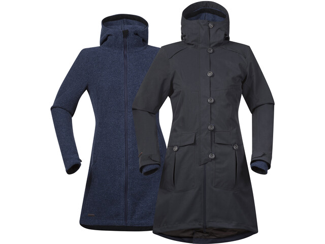 Bergans Bjerke Cappotto 3in1 Donna, solid charcoal
